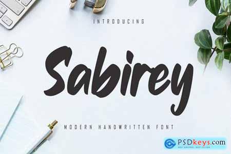 Sabirey - Handwritten Font