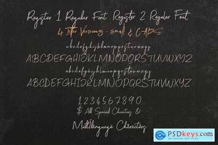 Register SVG Script Font