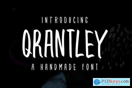 Qrantley - A Handmade Font