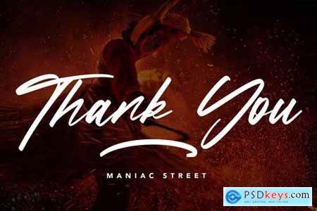 ManiacStreet - Handwritten Script Font