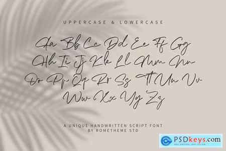 The Morgan - Signature Script Font