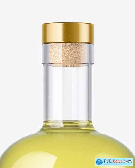 Clear Glass Drink Bottle Mockup 72803