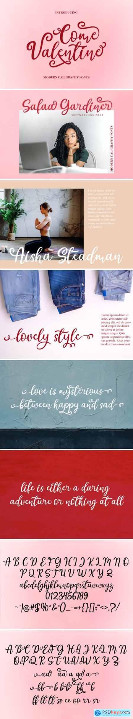 Come Valentine Font