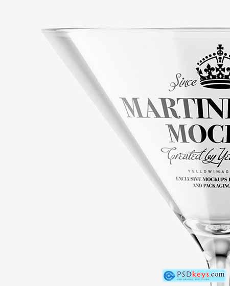 Empty Martini Glass Mockup 72703