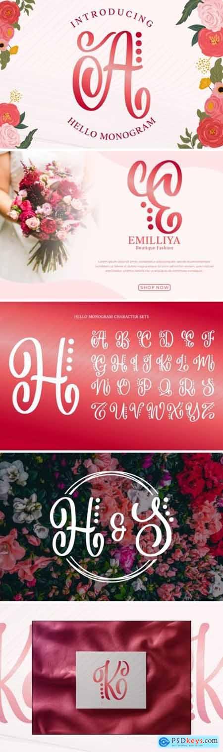 Hello Monogram Font