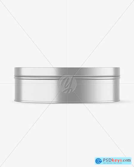 Metallic Round Tin Box Mockup 72671