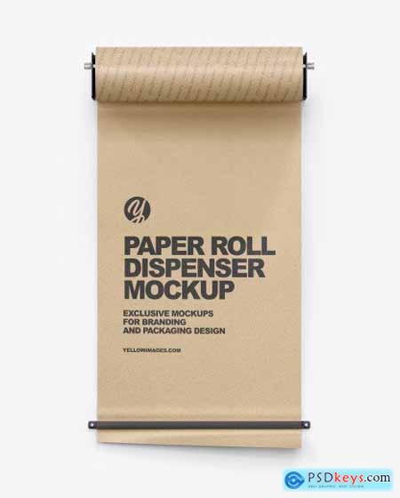 Dispenser w- Kraft Paper Roll Mockup 72713