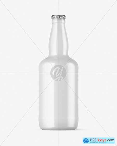 Glossy Beer Bottle Mockup 72820