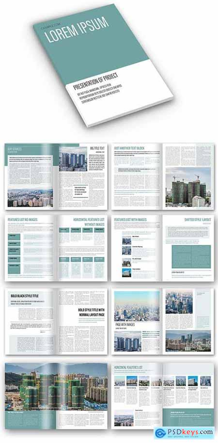 Simple Corporate Brochure Layout with Calm Green 401853614