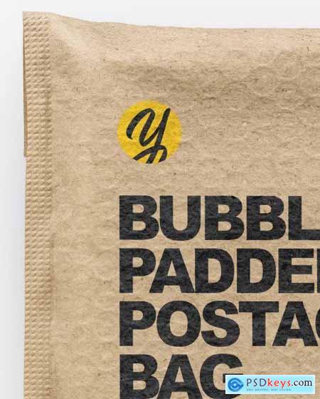 Kraft Paper Postage Bag Mockup 72679
