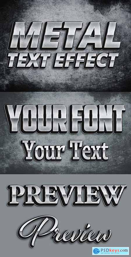 Metal Grunge Text Style Mockup 401853807