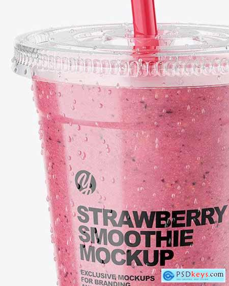 Strawberry Smoothie Cup with Straw 72712