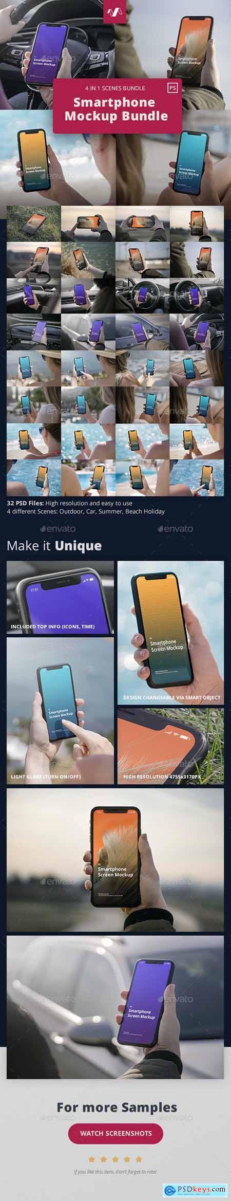Phone Mockup Scenes Bundle 29808457