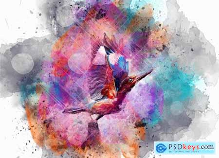 Wonder Watercolor Art PS Action 5604702