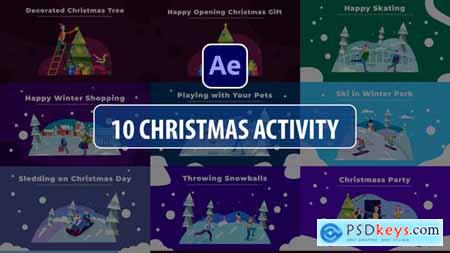 Christmas Activity Scenes - After Effects 29854734