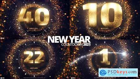 Golden New Year Countdown 2021 29809141