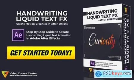 Motion Graphics Create Amazing Handwriting Liquid Text Effect in After Effects
