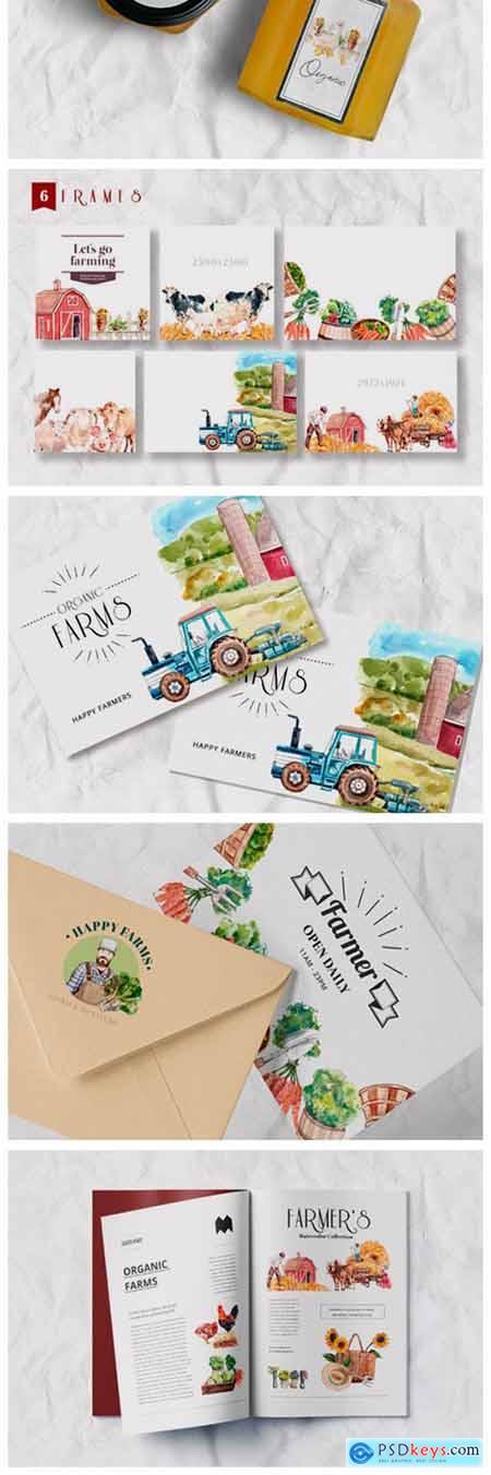 The Farmers Garden Watercolor 7280839