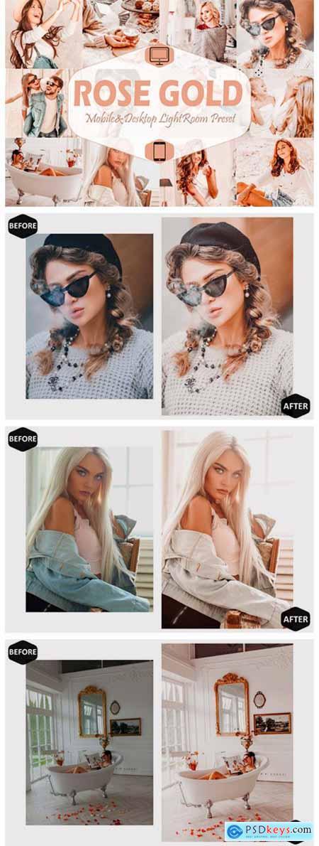 10 Rose Gold Mobile & Desktop Lightroom 7099161