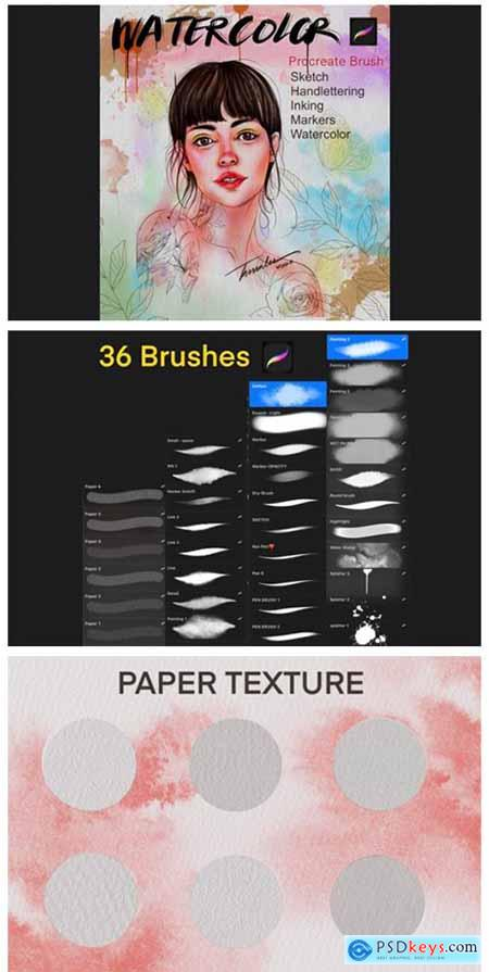 Procreate Watercolor Brush 7152915