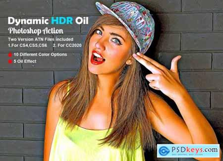 Dynamic HDR Oil Photoshop Action 5608920
