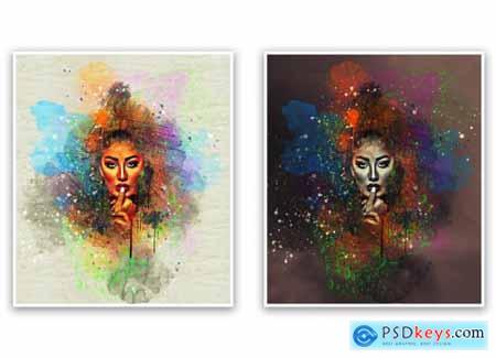 Vintage Watercolor Photoshop Action 5533890