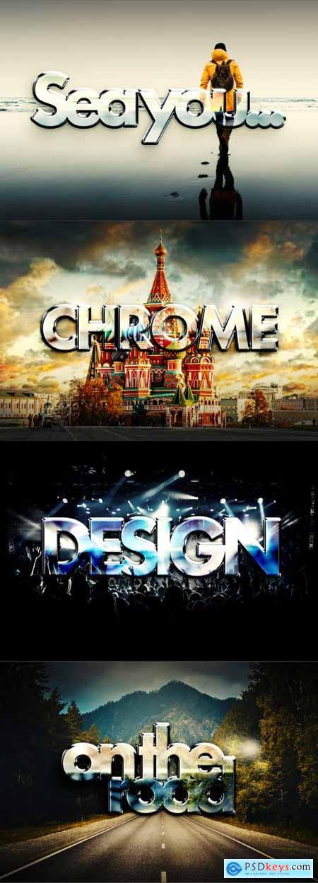 Chrome photo vs text effect mockup 5710555