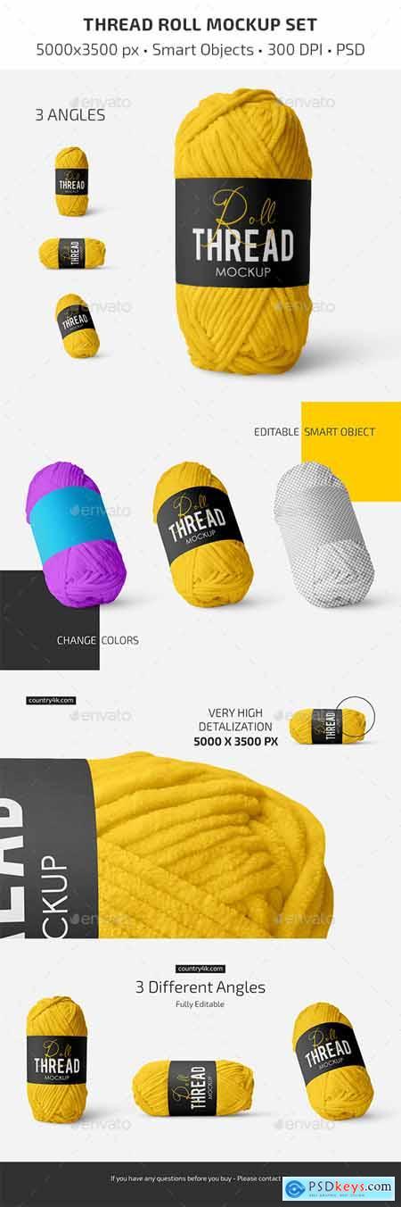 Thread Roll Mockup Set 29854877
