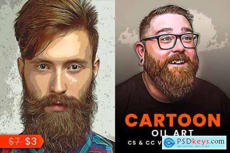 Cartoon Oil Art Painting 5529658