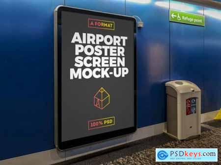 Airport billboard mockup