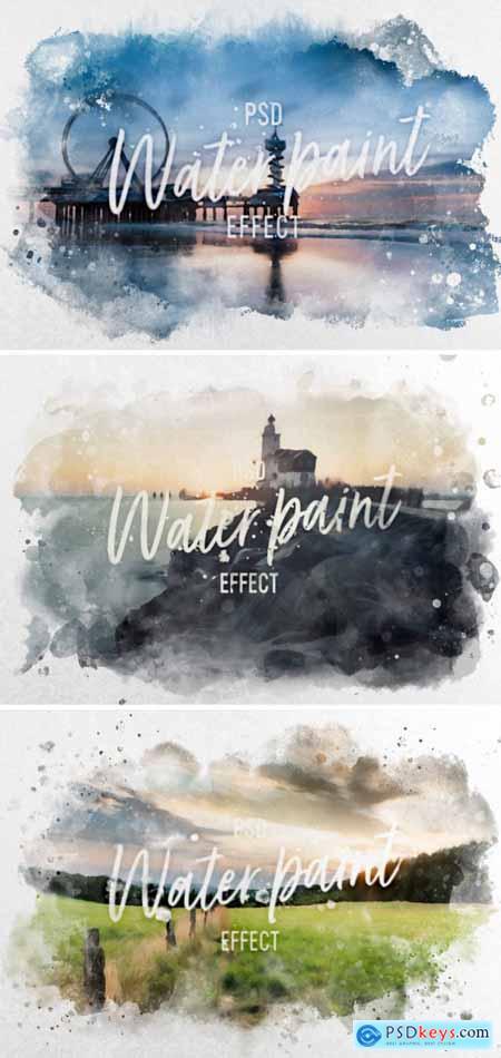 Watercolor Effect Mockup 402357687