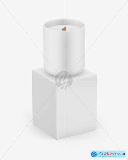Paper Box W- Matte Candle Mockup 72872