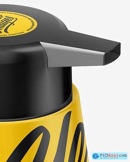 Glossy Plastic Soap Dispencer Bottle Mockup 72743