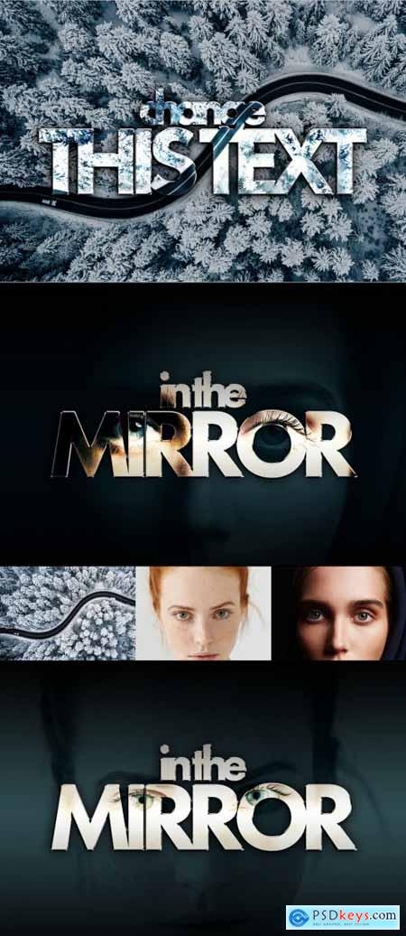 Mirror Image Text Effect Mockup 402361277