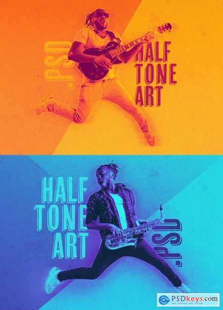 Halftone Art Effect Mockup 402357494