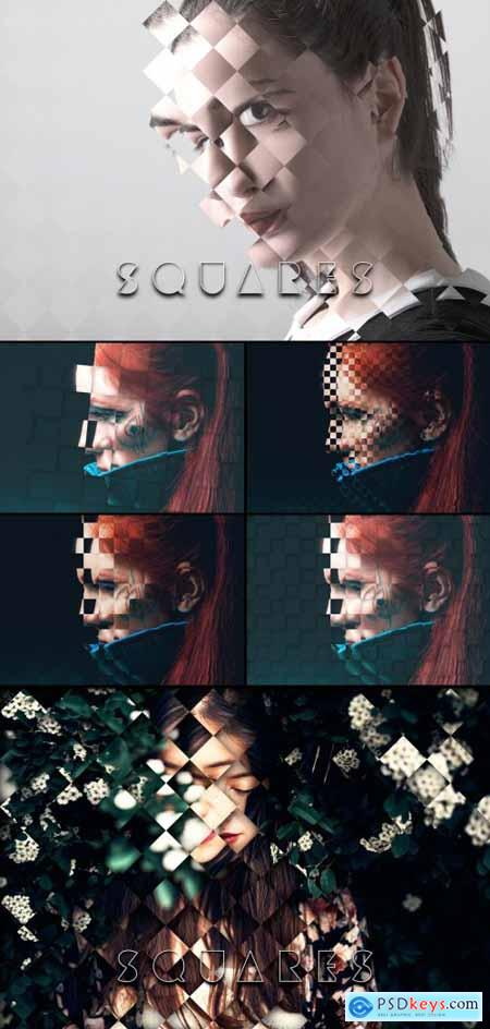 Square Photo Manipulation Masks 402361150