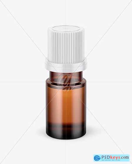 Small Amber Glass Bottle Mockup 72851