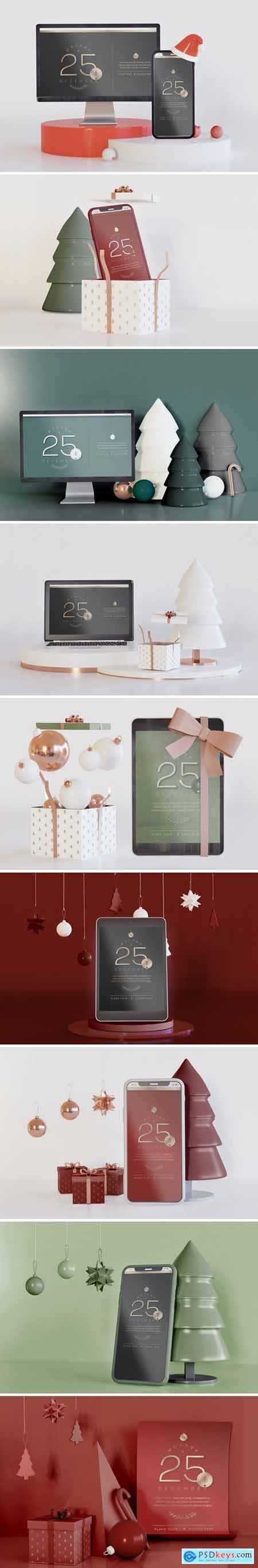 Mockup of Christmas Concept