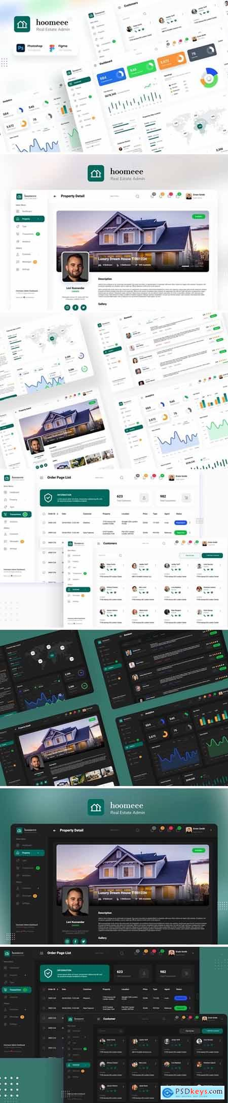 Hoomeee - Real Estate Admin Dashboard Template