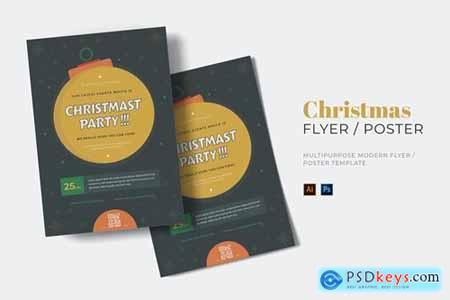 Chrismast Party Events Flyer