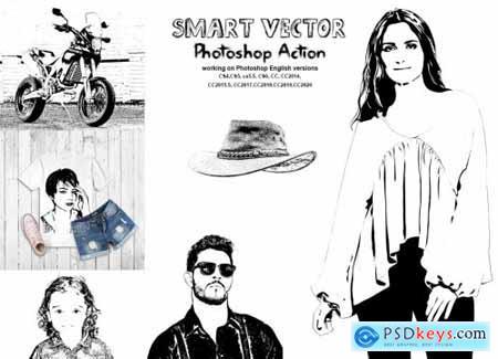 Smart Vector Photoshop Action 5670471