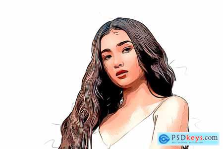 Beautiful Cartoon Photoshop Action 5328704