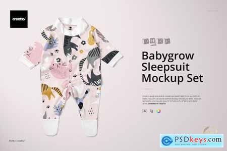 Babygrow Sleepsuit Mockup Set 5513681