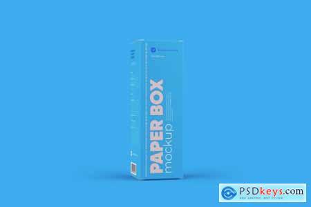 Paper Box Mockup 43x136mm 5738174