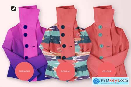 Womens High Collar Jacket Mockup 5113315