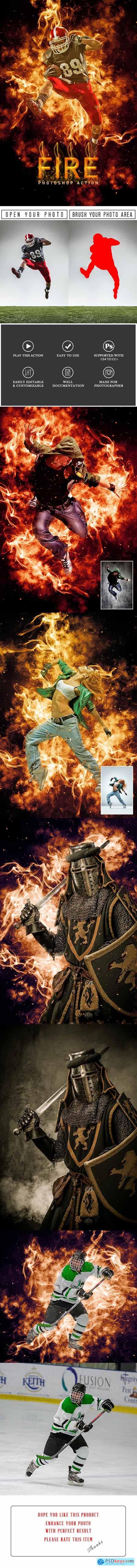Fire Photoshop Action 29628249