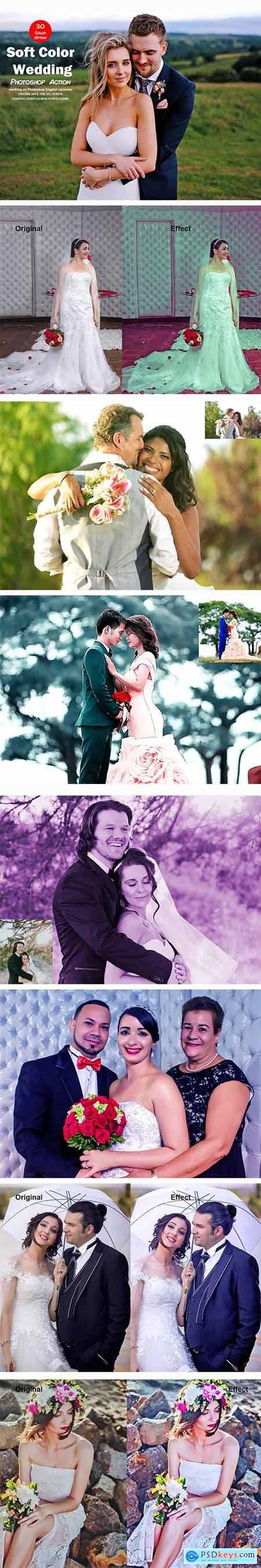 Soft Color Wedding Photoshop Action 5529582