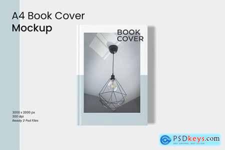 A4 Book Cover Mockup