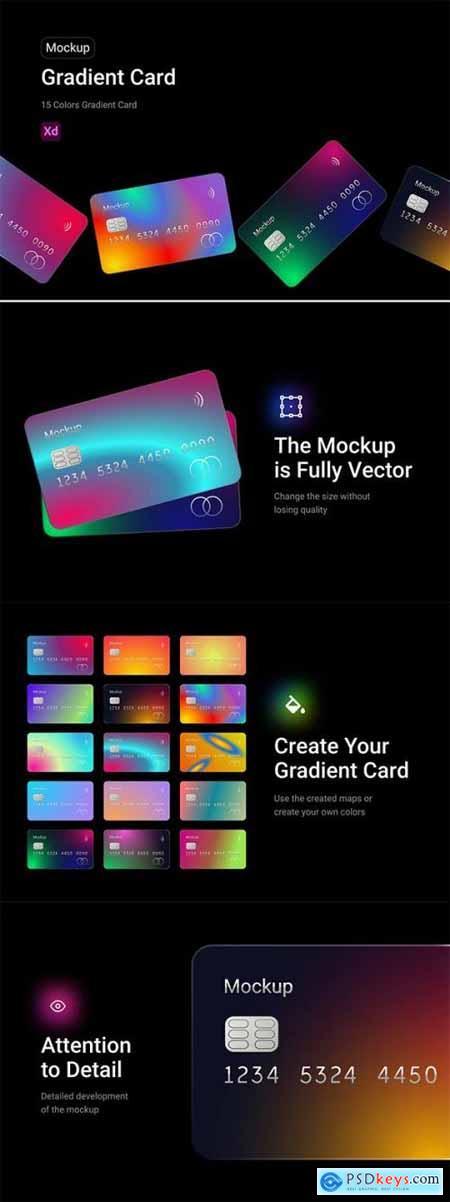 Gradient Card Mockup