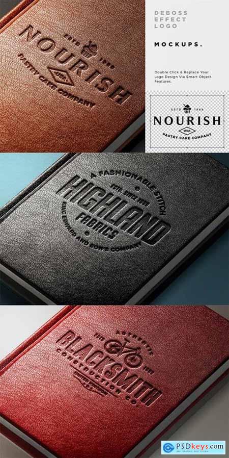 Leather Debossed Logo Mockup